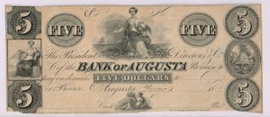 5 dolarów - 1800, The Bank of Augusta, GEORGIA