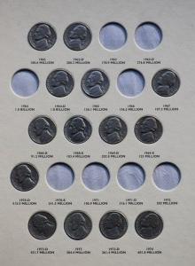 Zestaw 5 centów - 59 sztuk