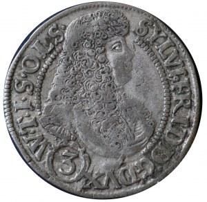 Sylwiusz Fryderyk, 3 krajcary 1676 SP (przebita data ?)