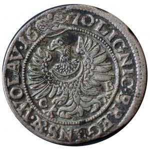 Chrystian wołowski, 3 krajcary 1670 CB