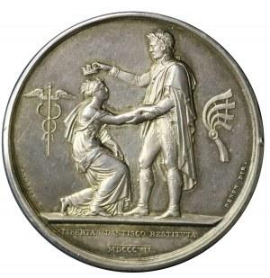 Medal z 1807 roku autorstwa Andrieu'a i Denon'a wybity z okazji zdobycia Gdańska przez wojska Napoleona i ustanowienia Wolnego Miasta - w srebrze !