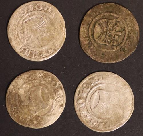 zestaw półgroszy, Zygmunt I Stary (1506 - 1548), (4 sztuki)