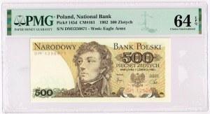 500 zł 1982 r. - Tadeusz Kościuszko - seria DM