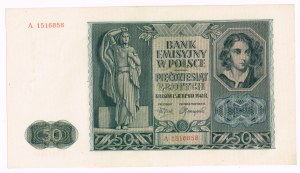 50 złotych 1.08.1941, seria A