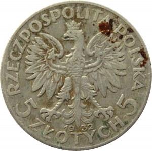Polska, II RP, Kobieta, 5 złotych 1932 ze znakiem mennicy, Warszawa