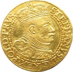 Stefan Batory, dukat 1586, Gdańsk, odmiana koralikowo-sznurkowa