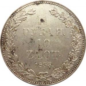 Mikołaj I, 1 1/2 rubla/10 złotych 1833, Petersburg - piękne!