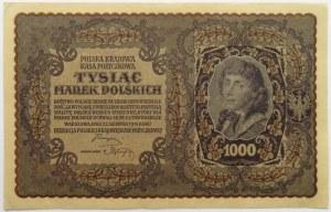 Polska, II RP, 1000 marek 1919, III SERJA Ł - typ 6