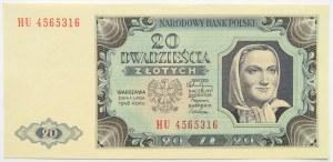 Polska, RP, 20 złotych 1948, seria HU, UNC