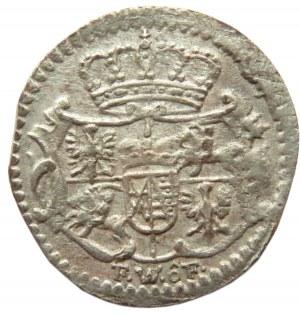 August III Sas, halerz 1750, Drezno, ładny