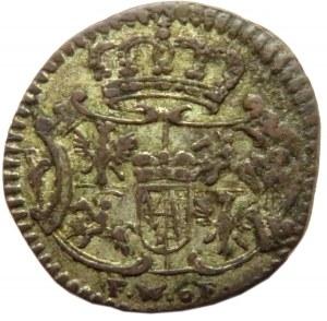 August III Sas, halerz 1753, Drezno, bardzo ładny