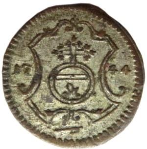 August III Sas, halerz 1744, Drezno, ładny