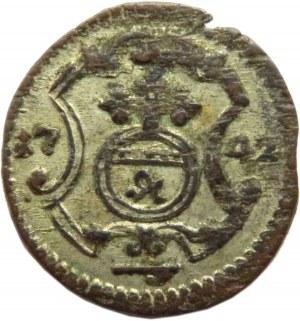 August III Sas, halerz 1742, Drezno, ładny