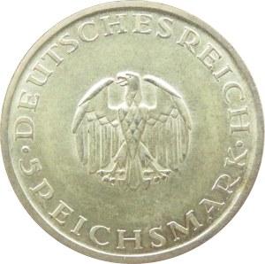 Niemcy, Republika Weimarska, 5 marek 1929 F, Lessing, Stuttgart
