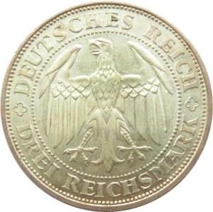 Niemcy, Republika Weimarska, 3 marki 1929 E, Drezno, Meissen, piękne