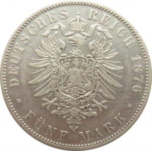 Niemcy, Bawaria, Ludwik II, 5 marek 1876 D, Monachium