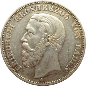 Niemcy, Badenia, Fryderyk, 5 marek 1898 G, Karlsruhe