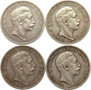 Niemcy, Prusy, Wilhelm II, lot 5 marek 1894-1902 A, Berlin