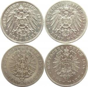 Niemcy, Hamburg, lot 5 marek 1875-1903 J, Hamburg