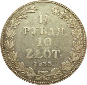 Mikołaj I, 1 1/2 rubla/10 złotych 1833 HG, Petersburg