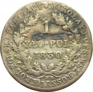 Mikołaj I, 1 złoty 1830 FH, Warszawa