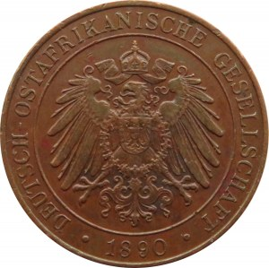 Niemiecka Afryka Wschodnia, 1 pesa 1890, Berlin, ładna