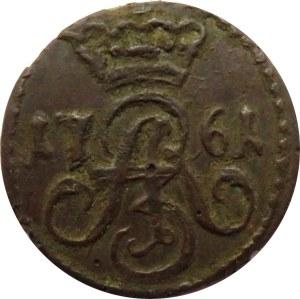 August III Sas, szeląg 1761, Toruń, ładny