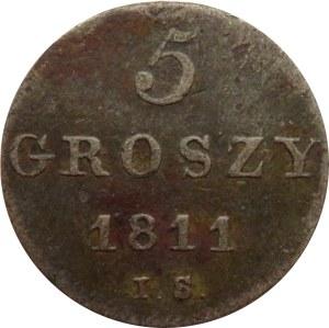 Księstwo Warszawskie, 5 groszy 1811 I.S., Warszawa