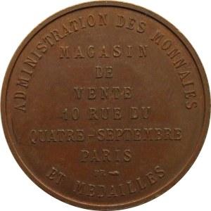 Francja, Administracja Walutowa, żeton 1767, miedź, UNC