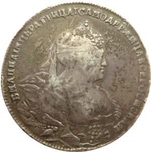 Rosja, Anna, 1 rubel 1739, Moskwa, Krasnyj Dwor