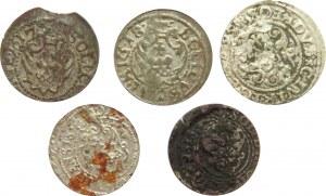 Zygmunt III Waza, lot szelągów, 1595-1620, Ryga