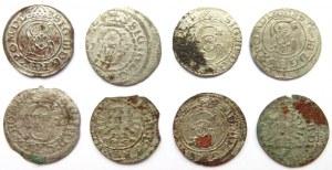 Zygmunt III Waza, lot 8 szeląg litewskich 1617-1626, Wilno