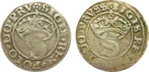 Zygmunt I Stary, lot 2 szelągów 1529-1530, Toruń (R1)