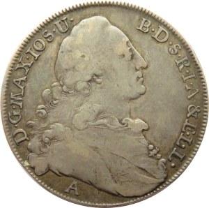 Niemcy, Bawaria, Maksymilian Józef, talar 1774, Monachium