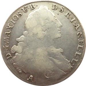 Niemcy, Bawaria, Maksymilian Józef, talar 1768 A, Berlin