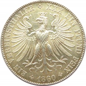Niemcy, Frankfurt, talar 1860, Frankfurt, piękny