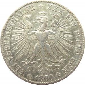 Niemcy, Frankfurt, talar 1860, Frankfurt