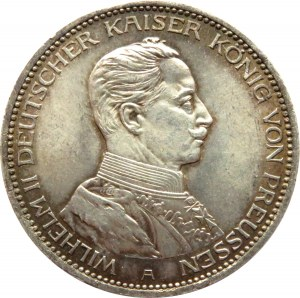 Niemcy, Prusy, Wilhelm II, 3 marki 1914 A, Berlin, UNC-