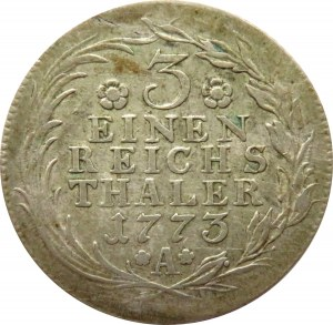 Niemcy, Prusy, Fryderyk, 1/3 talara 1773 A, Berlin