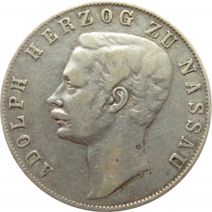 Niemcy, Nassau, Adolf, talar 1859, Wiesbaden
