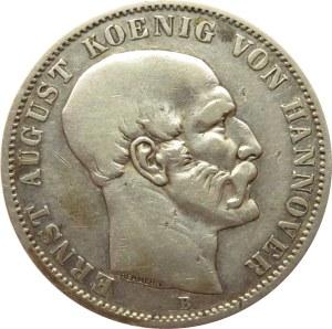 Niemcy, Hannower, Ernst August, 1 talar 1848 B, Hannower, rzadki!