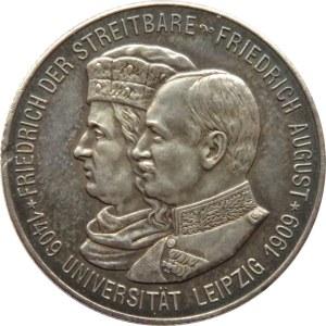 Niemcy, Saksonia, 2 marki 1909, 500-lecie Uniwersytetu w Lipsku, Muldenhütten