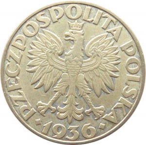 Polska, II RP, Żaglówka, 5 złotych 1936, Warszawa