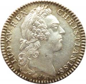 Francja, Ludwik XV, żeton 1758, Consilium Valencenense, srebro
