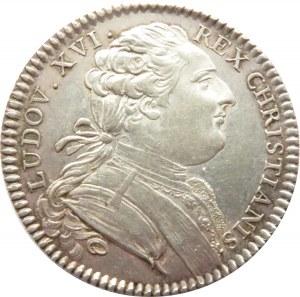 Francja, Ludwik XVI, żeton Bretania (Zgromadzenie Stanów) 1780