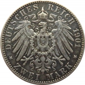 Niemcy, Prusy, Wilhelm II, 2 marki 1901 A, Berlin