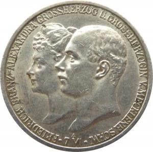 Niemcy, Meklemburgia, Fryderyk Franz 2 marki 1904 A, Berlin