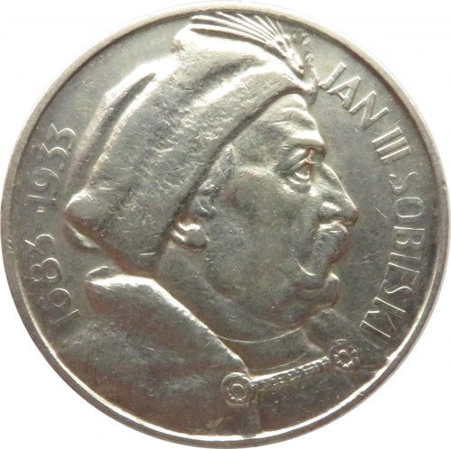 Polska, II RP, 10 złotych 1933, Jan III Sobieski, Warszawa