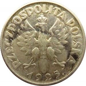Polska, II RP, Kłosy, 2 złote 1925, Warszawa, ładny egzemplarz