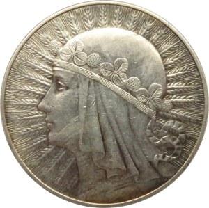 Polska, II RP, Głowa Kobiety, 10 złotych 1932, ze znakiem mennicy, Warszawa